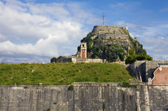 View of old fortress of Corfu Royalty Free Stock Photos