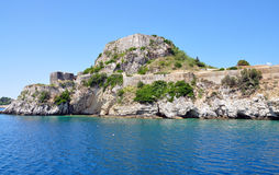 View of the old fortress from the sea, Corfu Town, Greece, Europe Royalty Free Stock Image