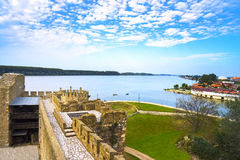 The view from the the old fortress of stone Royalty Free Stock Photos