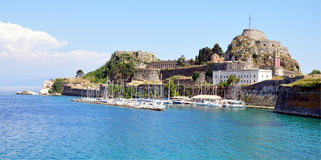 View of the old fortress town of Corfu, Greece, Europe Royalty Free Stock Photo