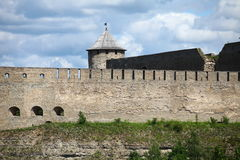 View of the old fortress wall Royalty Free Stock Photos