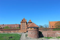 View on old german castle in Malbork. Royalty Free Stock Photos