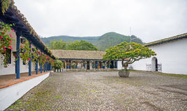 View of an old hacienda's central plaza Stock Photography