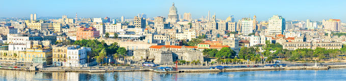 View of Old Havana including most of its landmarks Royalty Free Stock Images