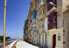 View of old, historical buildings in Valletta / Malta. Image sho Royalty Free Stock Image