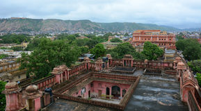 View of the old house in Jaipur, India Stock Photos