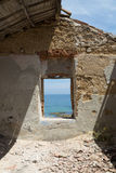 View from old house of Marine Protected area of Plemmirio in Syr Stock Photography