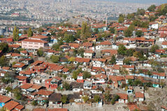 View of Old Houses. At suburbs in Ankara, Turkey Stock Photo
