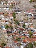 View of Old Houses. At suburbs in Ankara, Turkey Royalty Free Stock Photo