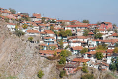 View of Old Houses. At suburbs in Ankara, Turkey Royalty Free Stock Images