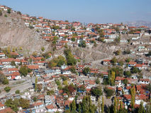 View of Old Houses. At suburbs in Ankara, Turkey Stock Photography