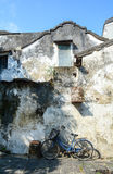 View of old houses with ancient walls in Hoi An, Vietnam Stock Photos