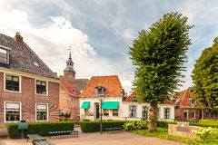 View at old houses in the Dutch city of Blokzijl Stock Photography