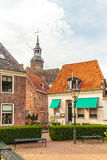 View at old houses in the Dutch city of Blokzijl Stock Photos