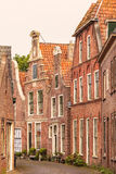 View at old houses in the Dutch city of Blokzijl Royalty Free Stock Photo