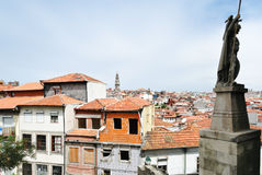 View of old houses in Porto city Stock Image