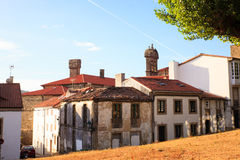 View of old houses of Santiago. De Compostela stock images