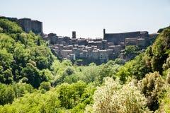 View of the old Italian city of Sorano. Tuscany Stock Photography