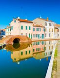 View of the old Italian town with colorful houses Royalty Free Stock Photo