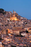 View of old italian village at twilight Royalty Free Stock Photos
