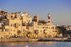 View of the old Jaffa port at sunset, tel Aviv Stock Photo