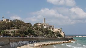 View of Old Jaffa stock video footage