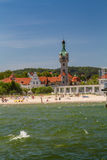 View of the old lighthouse, Sopot Royalty Free Stock Photography
