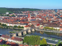 View of Old Main Bridge in Wurzburg, Germany Royalty Free Stock Photography