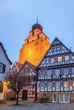Herrenberg at Dusk, Germany. View of the old Market of Herrenberg, Germany Royalty Free Stock Image