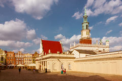 Old market square and the Town Hall tower. Poznan. Poland Stock Photo