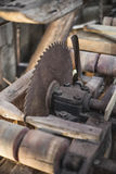 View of old mechanical saw Stock Photography