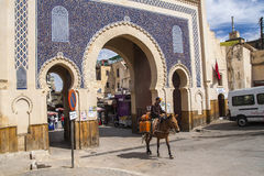 View of old medina in Fes Stock Images