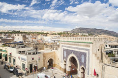 View of old medina in Fes Stock Photography