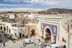 View of old medina in Fes Stock Image