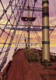 On merchant ship - 3D render Stock Image