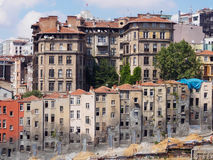 View of old narrow houses in Istanbul Stock Photos