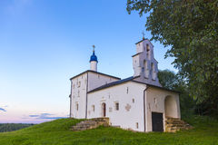 View on old orthodox church building Stock Image