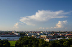 View of the old part of the city of St. Petersburg Royalty Free Stock Photography