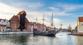 View of old part of Gdansk,Poland. Royalty Free Stock Photography