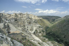 View of the old part of Matera, Italy Stock Photography
