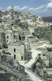 View of the old part of Matera, Italy Royalty Free Stock Image