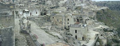 View of the old part of Matera, Italy Royalty Free Stock Images