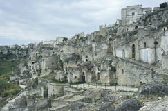 View of the old part of Matera, Italy Stock Image