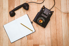 View of an old phone Stock Photography