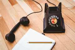 View of an old phone Royalty Free Stock Photos