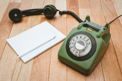 View of an old phone Royalty Free Stock Photo