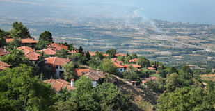 View from Old Platamonas, Platamon Greece Royalty Free Stock Photos
