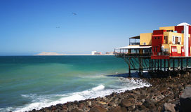 A View from Old Port. A Seafood Restaurant in Old Port, Rocky Point, Mexico Stock Photography