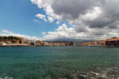 View of old port. Chania, Crete Stock Images