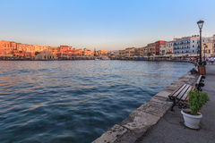 View of the old port of Chania, Crete Stock Images